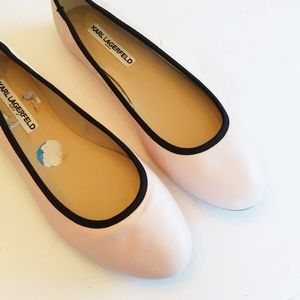 Karl Lagerfeld pink ballet flats size 10 new